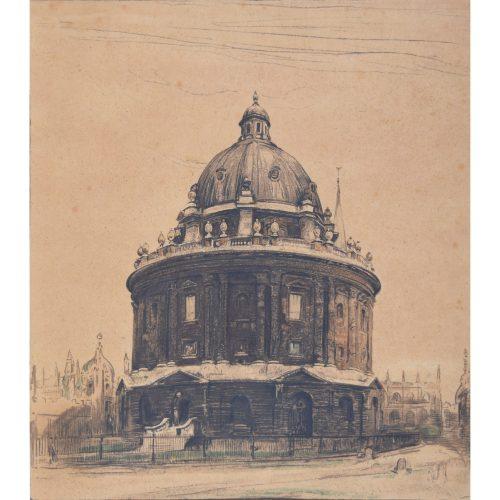 William Nicholson Radcliffe Camera Oxford lithograph c. 1905