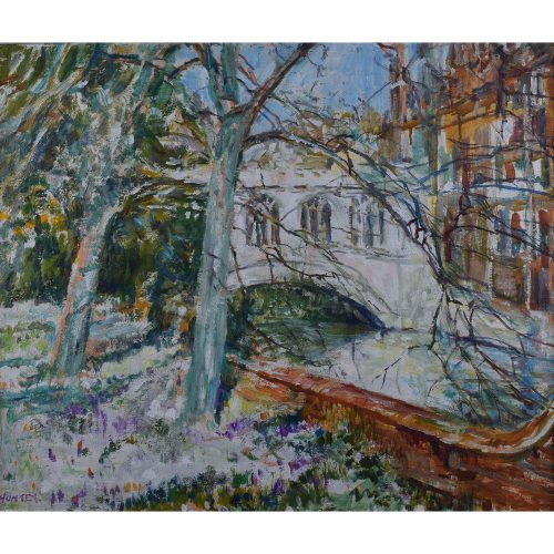 Nancy Huntly St John's College Bridge of Sighs Cambridge oil on canvas