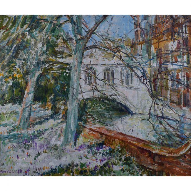 Nancy Huntly St John's College Bridge of Sighs Cambridge oil on canvas