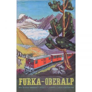 Hugo Schol Furka Oberalp poster