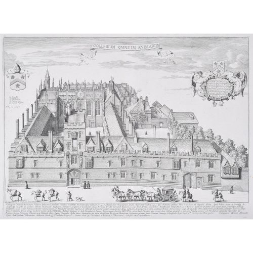 David Loggan All Souls College Oxford engraving