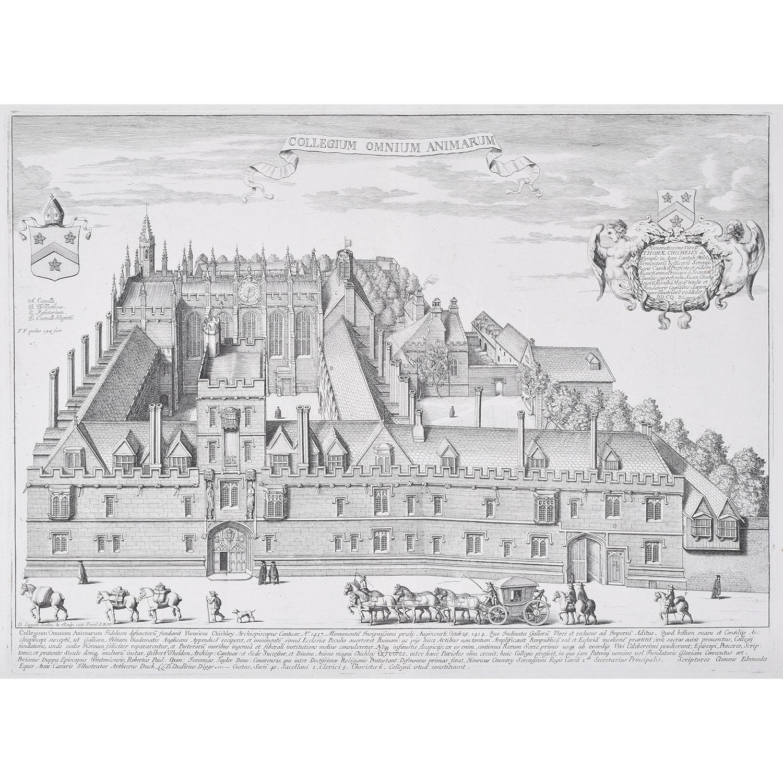 David Loggan All Souls College Oxford engraving