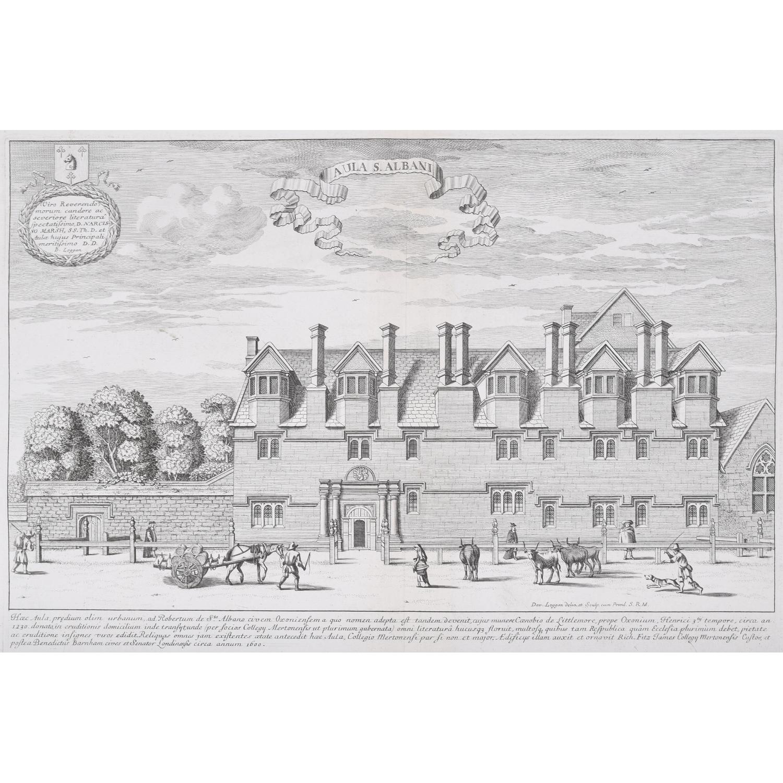 David Loggan St Alban's Hall Merton College 1675