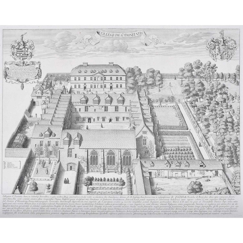 David Loggan Trinity College Oxford engraving 1675