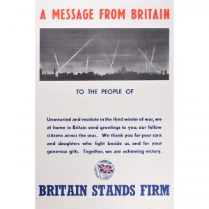 A Message from Britain 1942 original poster