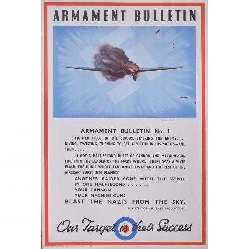 Owen Miller Armament Bulletin WW2 Original Poster