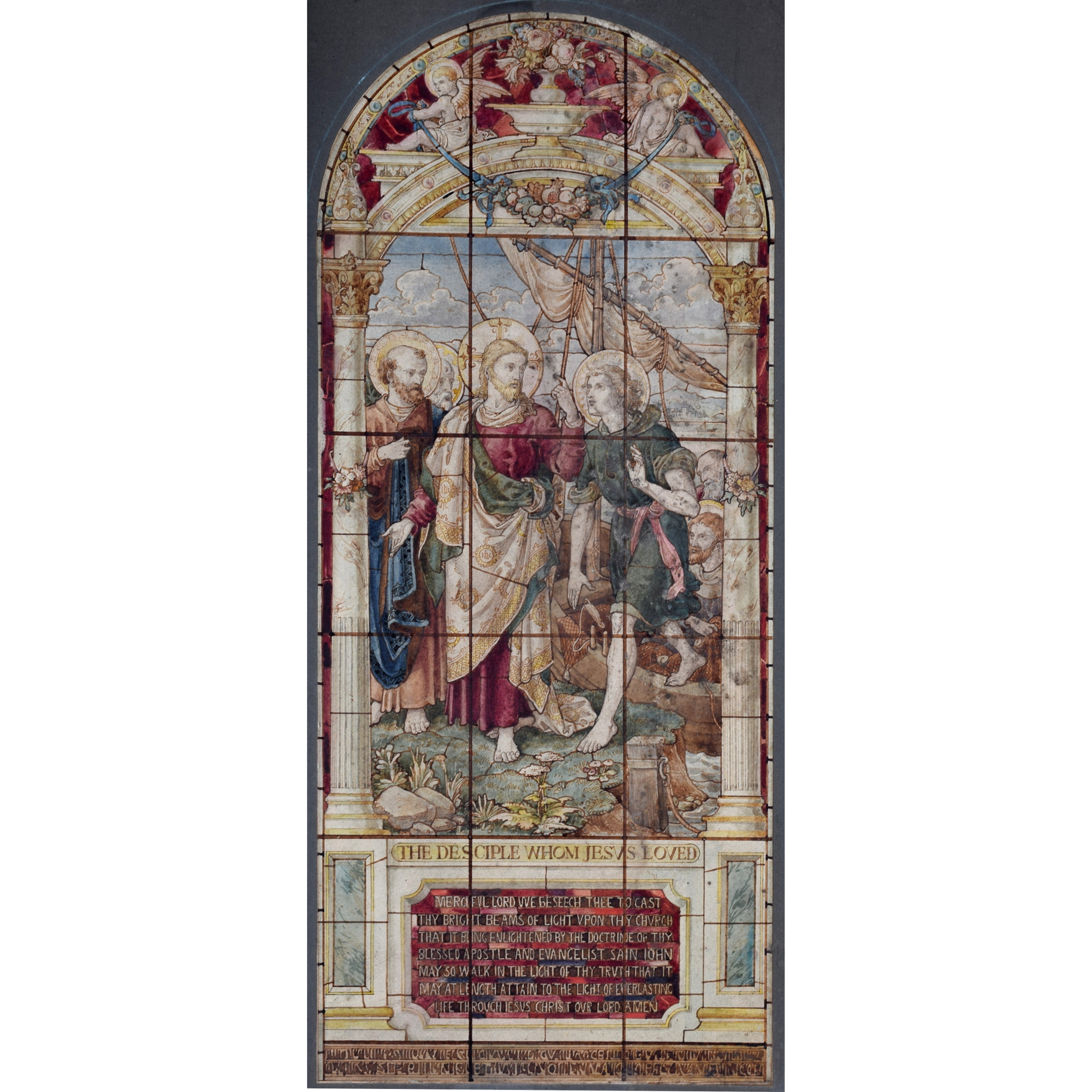Stained Glass Window Design The disciple whom jesus loved sq