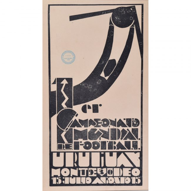 Uruguay Football World Cup 1930 original vintage poster