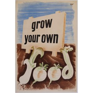 Zero Hans Schleger Grow Your Own Food poster