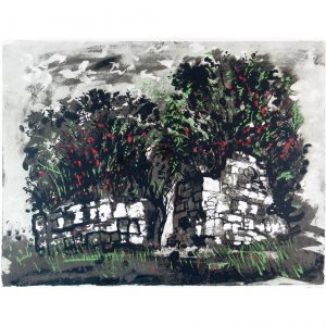 John Piper Skeabost Skye ruined chapel screenprint
