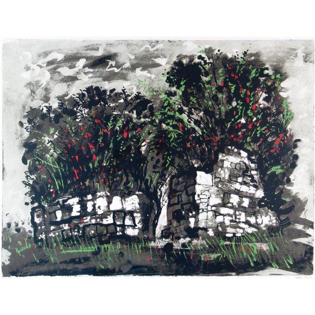 John Piper Skeabost Skye ruined chapel screenprint