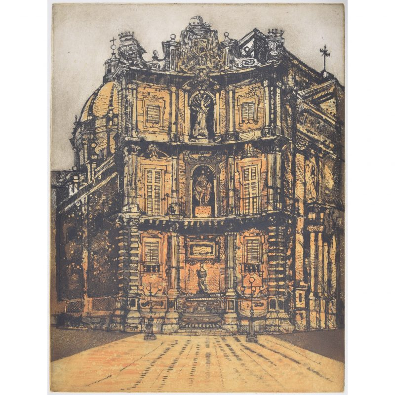 Richard Beer Quattro Canti etching and aquatint