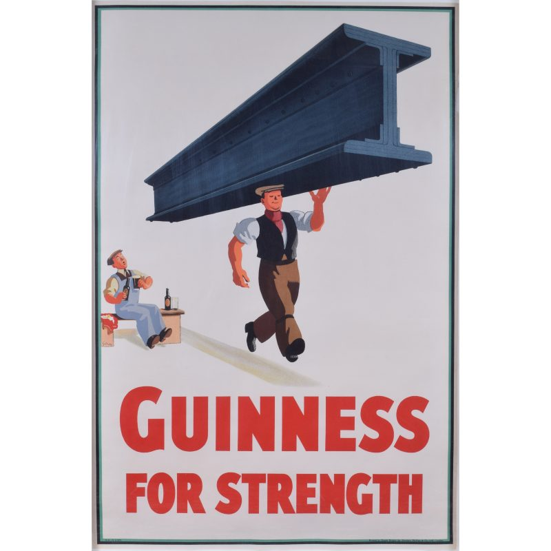 John Gilroy Guinness for Strength man carrying girder