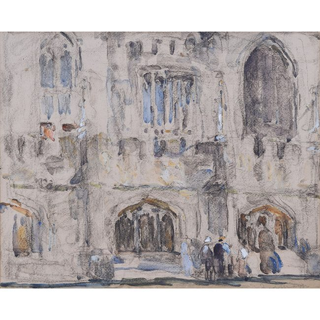Fred Mayor Magdalen College, Oxford watercolour for sale