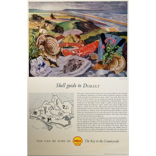 John Nash Shell Guide to Dorset poster for sale