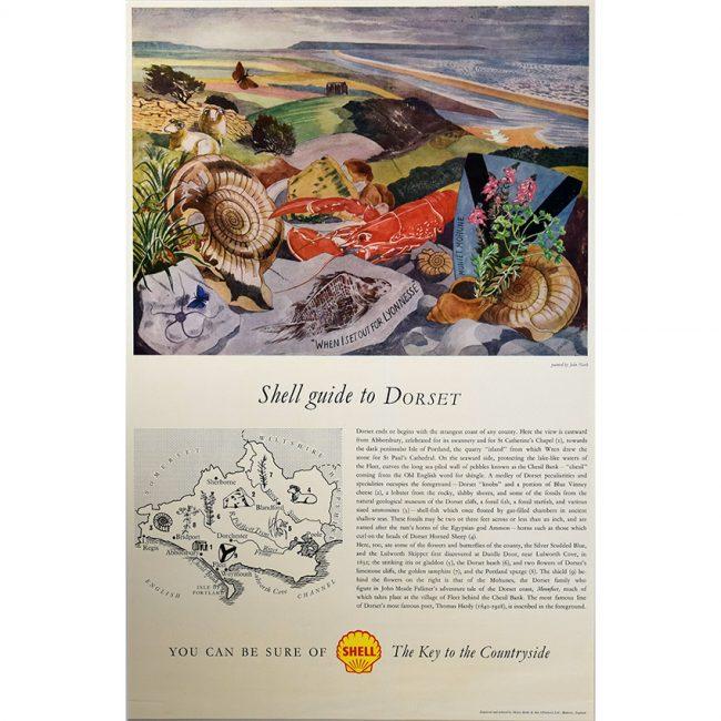 John Nash Shell Guide to Dorset poster for sale