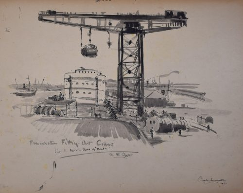 Claude Muncaster Finniston Crane, Glasgow pen and wash