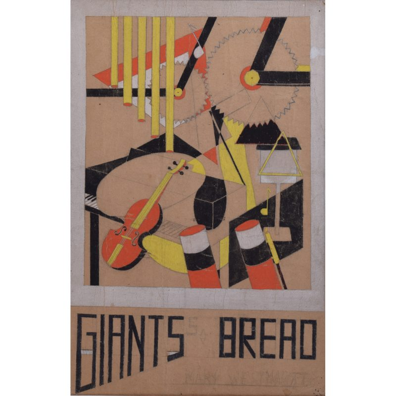 Agatha Christie nom-de-plume Mary Westmacott Giant's Bread design for book cover jacket by Macadam