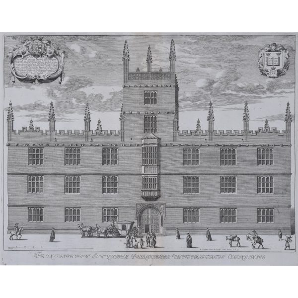 David Loggan Frontispiece Public Schools Frontispicum Publicarum Universitatus Oxoniensis for sale