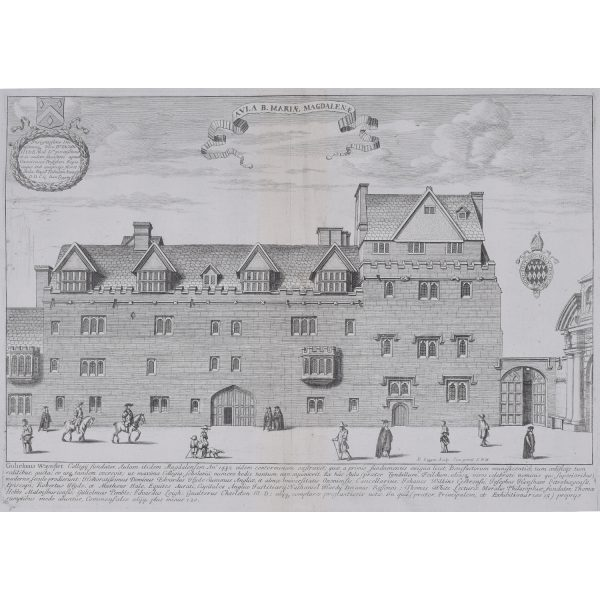 David Loggan Magdalen Hall Oxford engraving Aula Mariae Magdalene for sale