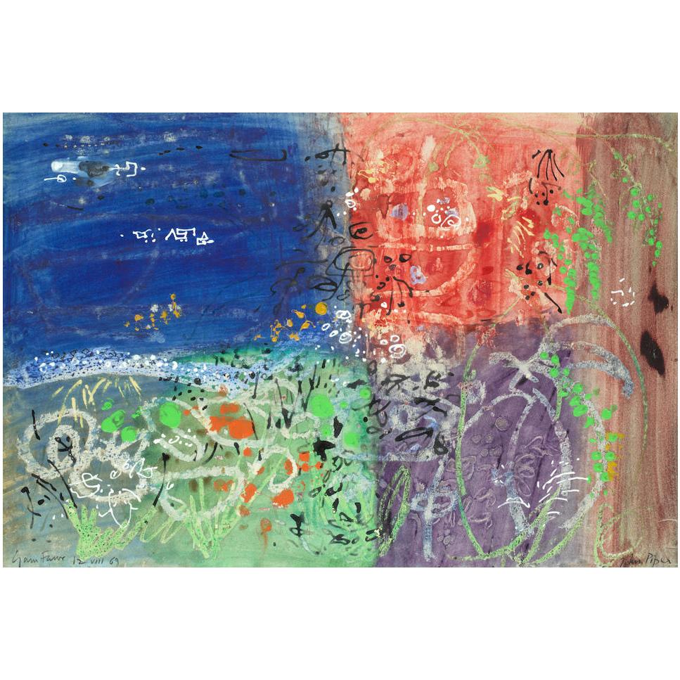 John Piper Garn Fawr gouache painting for sale