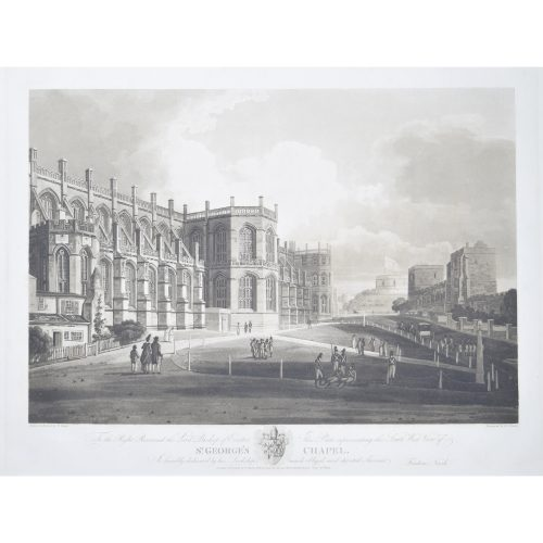 Frederick Nash South West View of St George's Chapel, Windsor Prince Harry Megan Markle Royal Wedding location