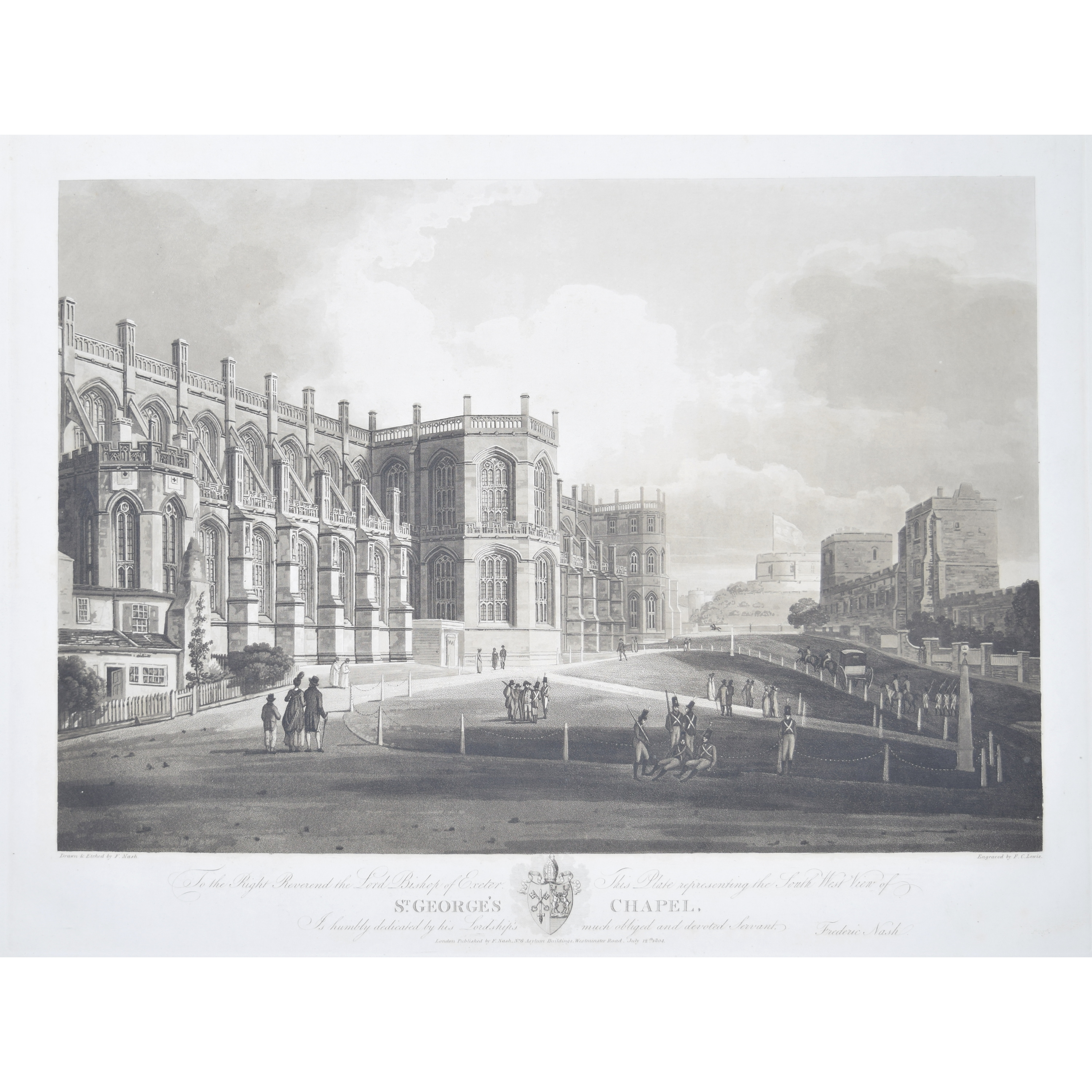 South West View of St George's Chapel Windsor Frederic Nash