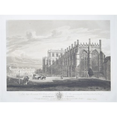 Frederick Nash South East View of St George's Chapel, Windsor Prince Harry Megan Markle Royal Wedding location