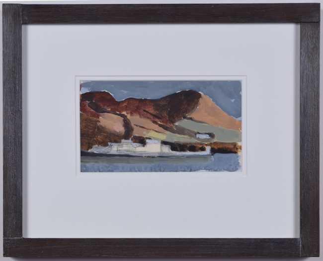 Clifford Ellis Cadbury Castle Wiltshire Abstract Landscape gouache Nicholson frame