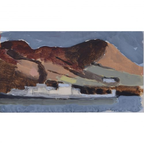 Clifford Ellis Cadbury Castle Wiltshire Abstract Landscape gouache