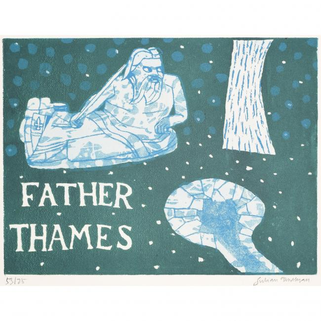 Julian Trevelyan Father Thames