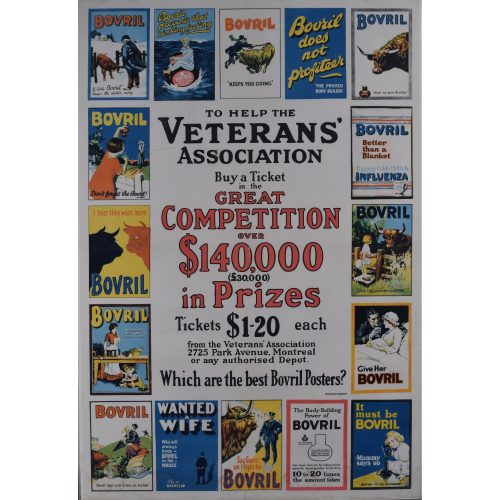 Bovril poster - Which are the Best Canadian Veterans Association Advertising