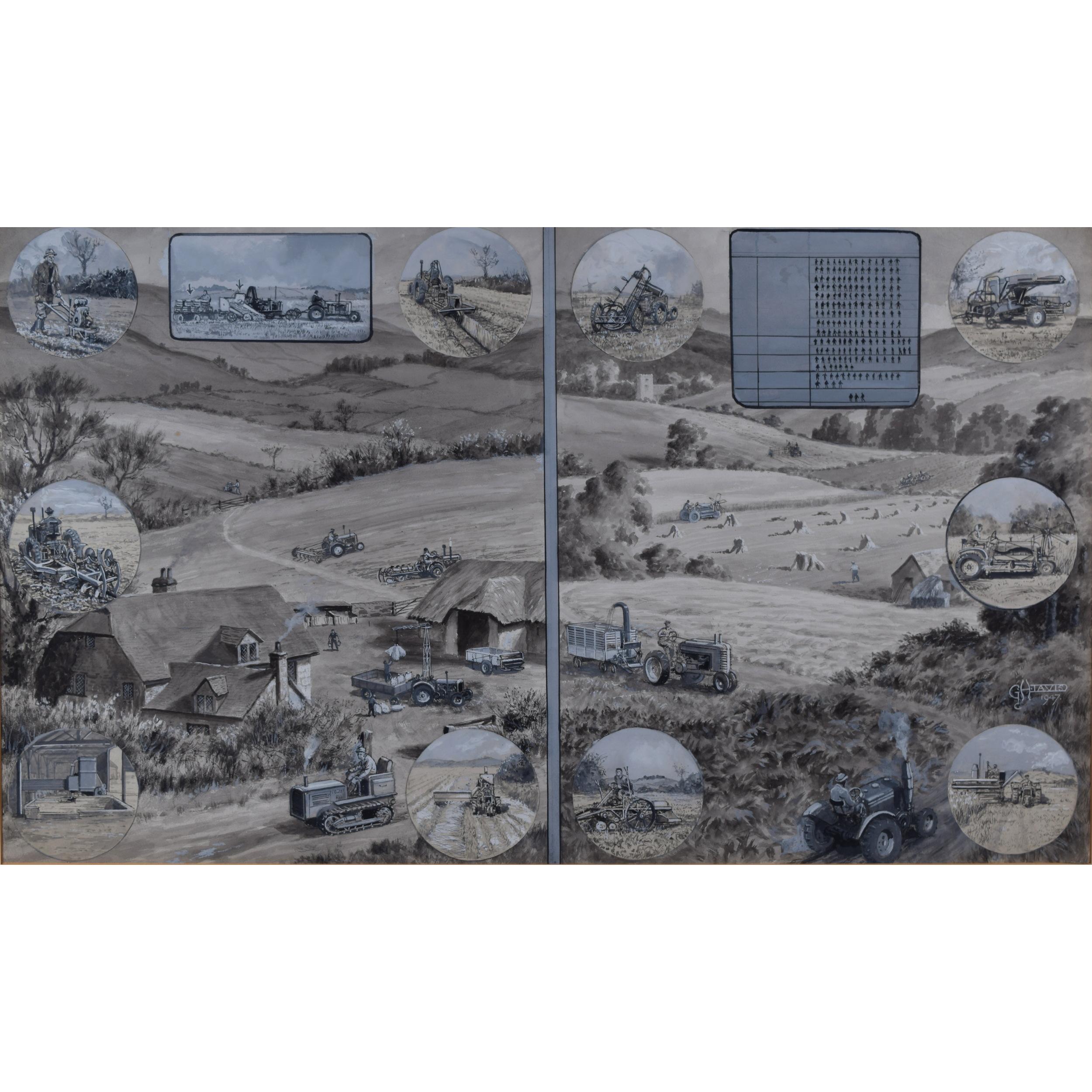 George Horace Davis Illustrated London News Design Agricultural Mechanisation for sale