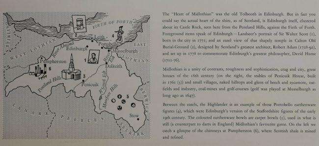 Leonard Rosoman Shell Guide to Midlothian advertising poster Modern British Art