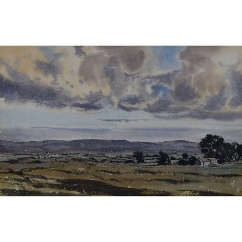 Claude Muncaster Landscape view watercolour for sale