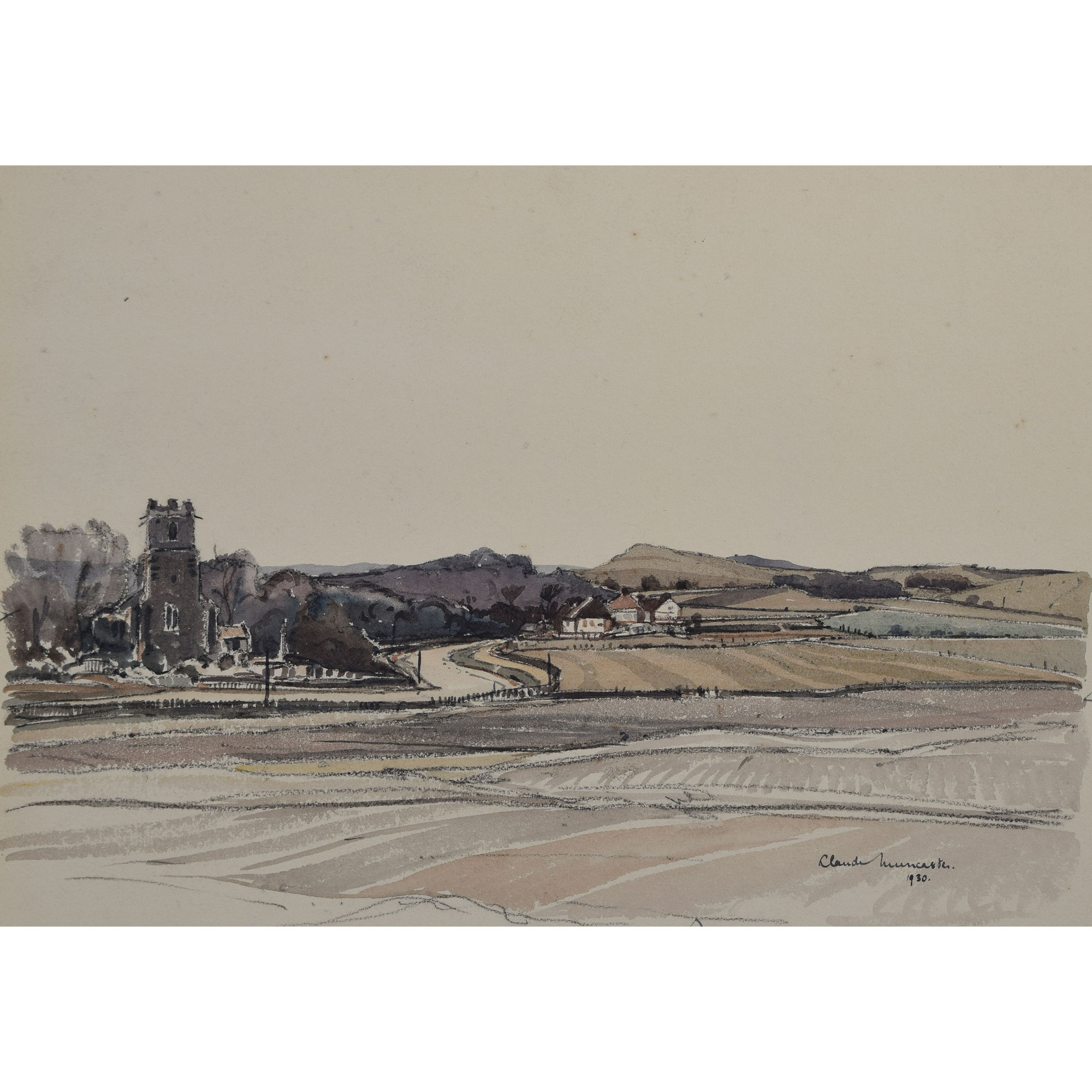 Claude Muncaster Mundesley Norfolk watercolour for sale