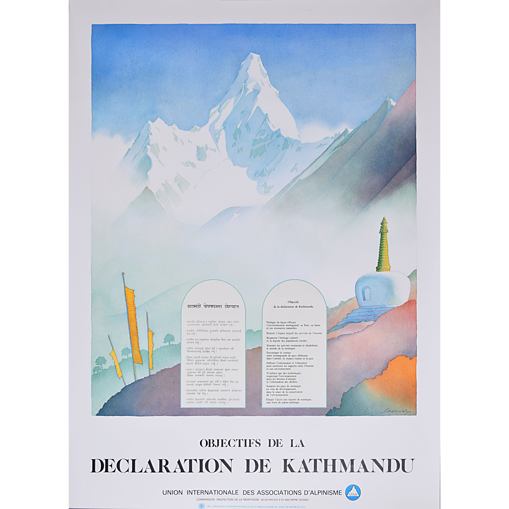'Samivel' Paul Gayet-Tancrède, Objectives of the Kathmandu Declaration Original Poster for sale