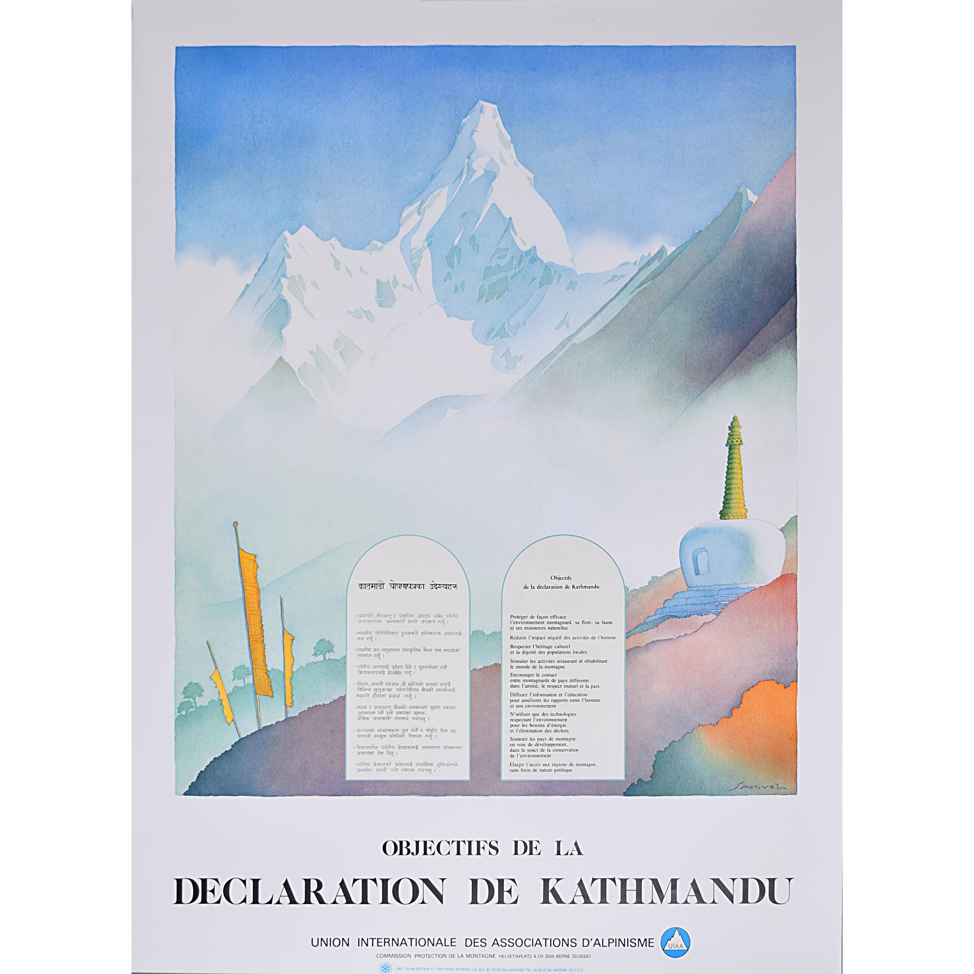 'Samivel' Paul Gayet-Tancrède, Objectives of the Kathmandu Declaration Original Poster for sale