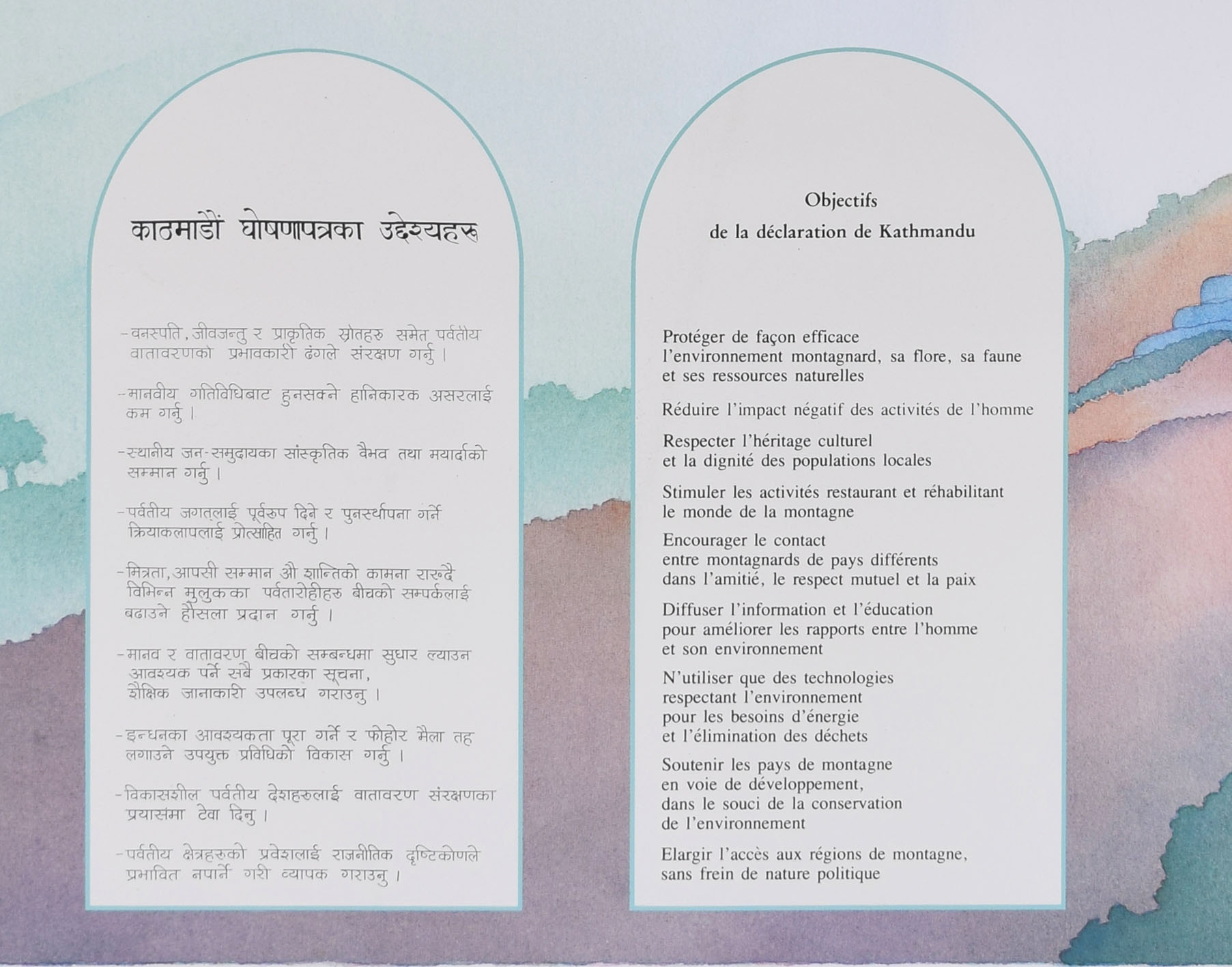 'Samivel' Paul Gayet-Tancrède, Objectives of the Kathmandu Declaration Original Poster