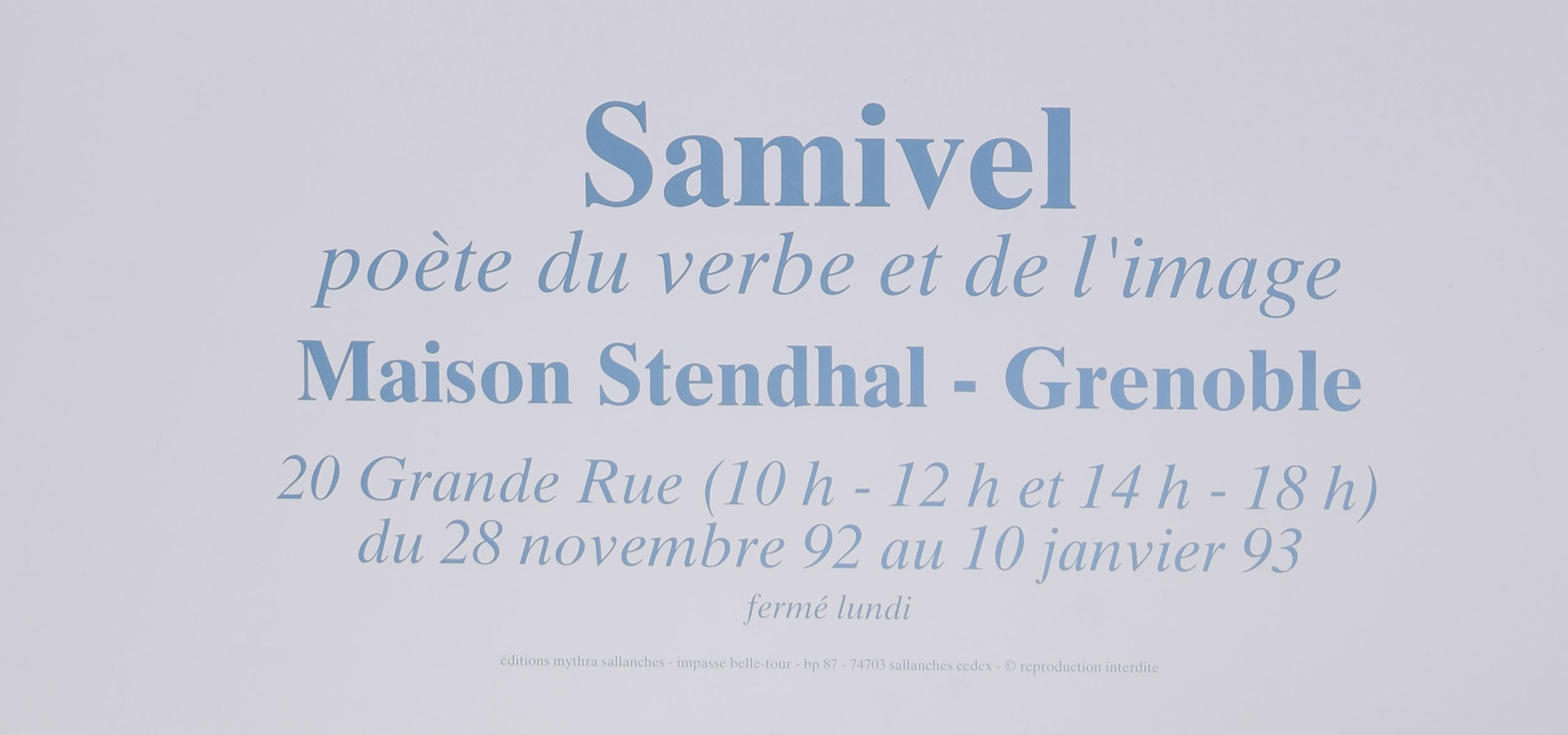 "'Samivel' Paul Gayet-Tancrède, The Poet of the Word and the Image, An exhibition: ""At the true summit"" poster"