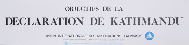 'Samivel' Paul Gayet-Tancrède, Objectives of the Kathmandu Declaration Original Poster