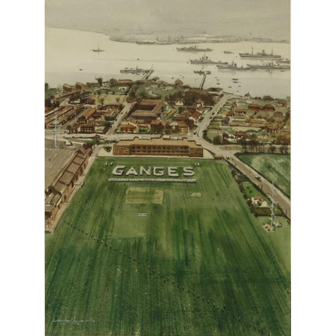 Claude Muncaster HMS Ganges Watercolour for sale