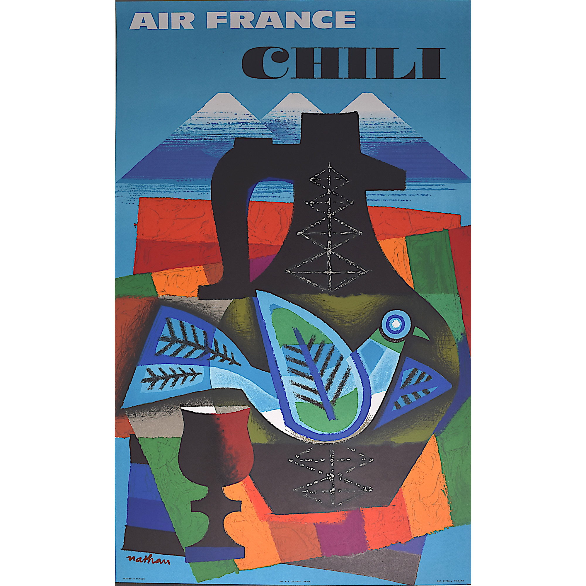 Air France poster for Chile Chili Nathan