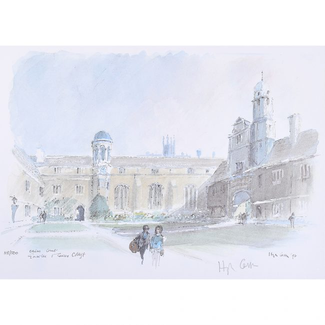 Hugh Casson print Gonville and Caius College Cambridge for sale