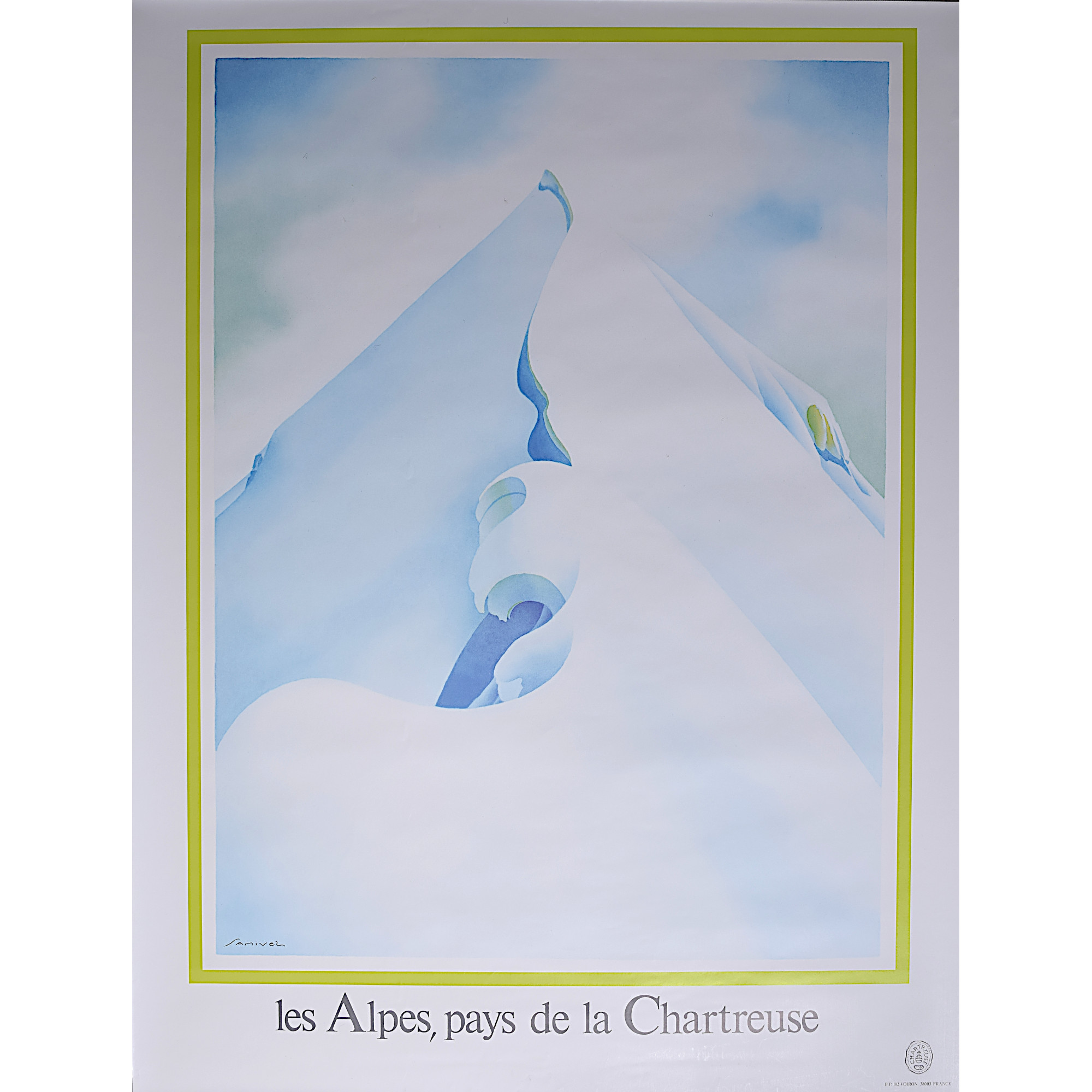 Samivel Chartreuse Alps original vintage poster for sale