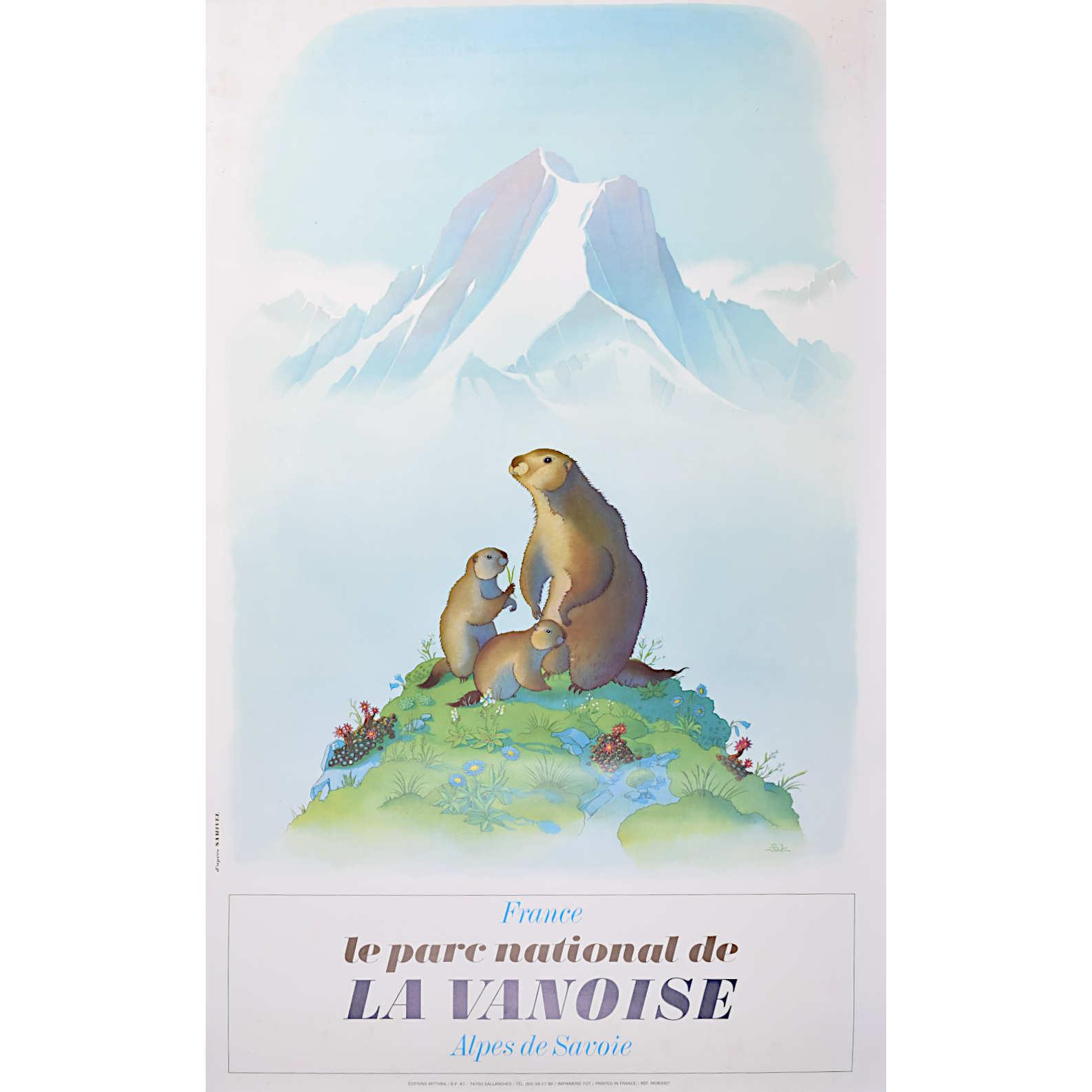 Samivel Marmot La Vanoise poster