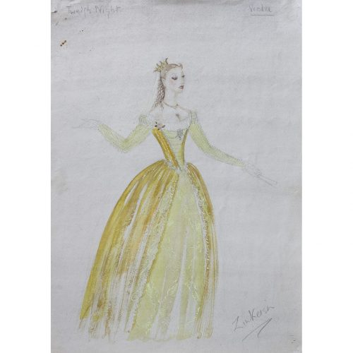 Doris Zinkeisen Original Costume Design for Viola for Twelfth Night for 1942 ballet tour for sale