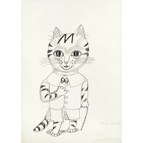 Edward Bawden Dandy Boy Cat drawing