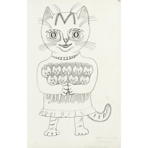 Edward Bawden Mum Cat with Nine Lives