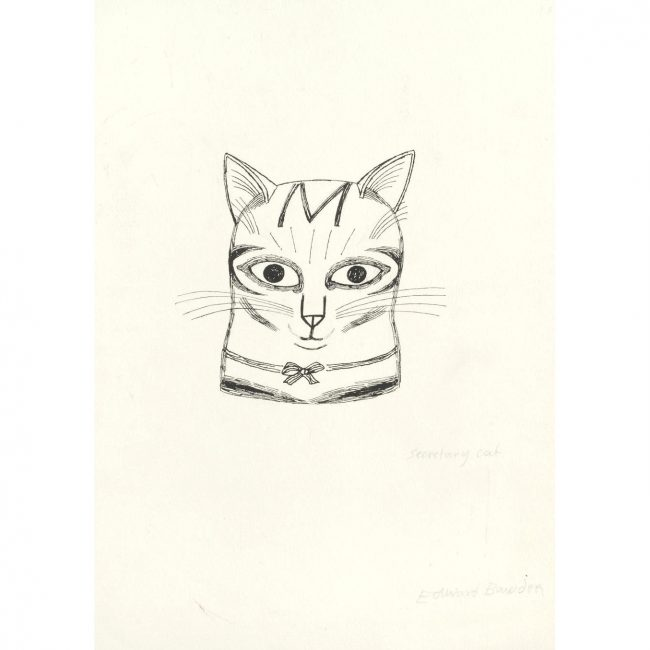 Edward Bawden Secretary Cat drawing
